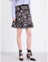 Self-portrait Floral Jacquard Skirt