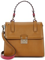 Valentino Cabana Brown Leather Tote