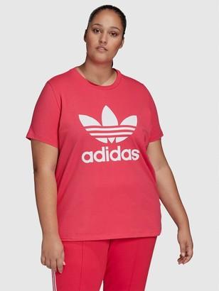 adidas Trefoil T-Shirt (Curve) - Pink