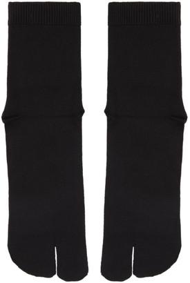 Maison Margiela Black Tabi Socks