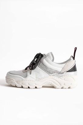 Zadig & Voltaire Blaze Metallic Sneakers