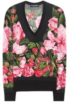 Dolce & Gabbana Floral-printed Cashmere And Silk Sweater