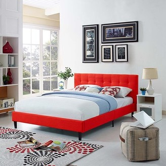 Modway Linnea Platform Bed, Multiple Sizes and Colors