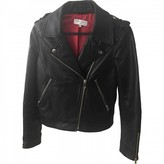 Mellow Yellow Black Leather Leather Jacket for Women