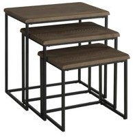 Martin Svensson Home Reclaimed Natural Finish 3 Piece Solid Wood Nesting Table