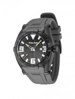 Police Raptor Men's Quartz Watch with Black Dial Analogue Display and Grey Silicone Strap 13093JSB/02B