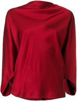 Chalayan draped satin top