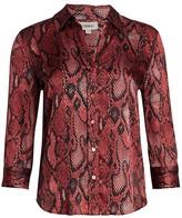 L'Agence Dani Snake Print Silk Blouse