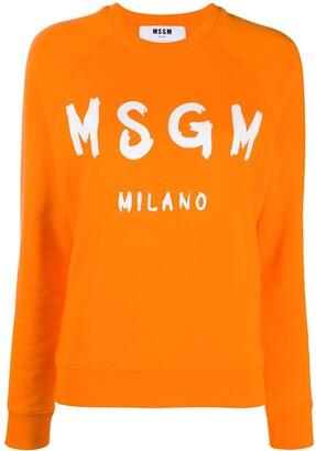 MSGM Logo-Print Raglan Sweatshirt