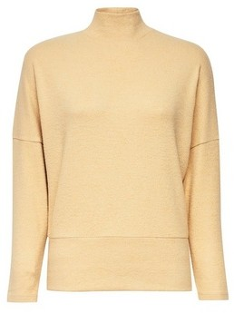 Dorothy Perkins Womens Petite Camel Brushed Funnel Neck Top