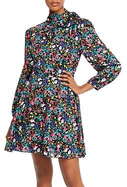 Milly Adele Garden Flower Silk-Blend Dress