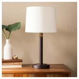 Threshold Davis Adjustable Column Table Lamp - Ebony/Brass