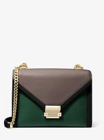 Michael Kors Whitney Large Tri-Color Leather Convertible Shoulder Bag