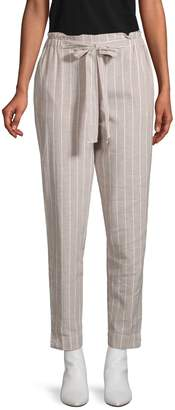 BeachLunchLounge Beach Lunch Lounge Pinstripe Linen & Cotton Pants