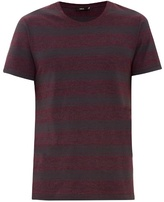 Vince Striped Cotton-blend T-shirt