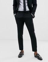 Asos Design DESIGN skinny wool tuxedo suit pants in black