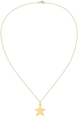 14 Karat Yellow Gold Star Disc Charm with 18-inch Cable Rope Chain by Versil