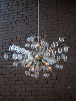 The Well Appointed House Bubbles Chandelier in Antique Brass