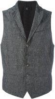 John Varvatos buttoned waistcoat