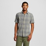 Men's Short Sleeve Woven Green Twill Plaid - Mossimo Supply Co.