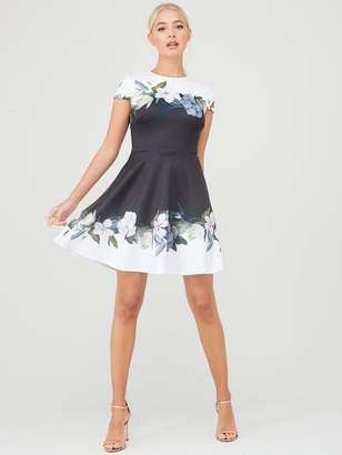 Ted Baker Louva Opal Printed Skater Dress - Black