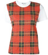 Comme des Garcons checked shortsleeved T-shirt