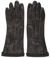 Lanvin Silk-Lined Leather Gloves