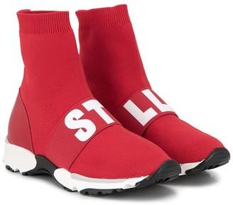 Stella McCartney Kids Logo Sock Sneakers