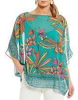 Trina Turk Marlete Printed Bell Sleeve Top