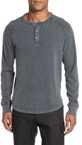 French Connection Men's Long Sleeve Raglan Henley