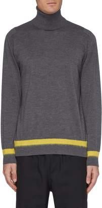 Oamc Contrast stripe hem turtleneck sweater