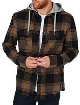 DC Shirts Runnel Long Sleeve Hooded Shirt - Raw Umber