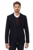 J By Jasper Conran Big And Tall Navy Herringbone Single Breasted Jacket