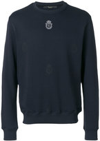 Billionaire logo crest sweatshirt - men - Cotton - M