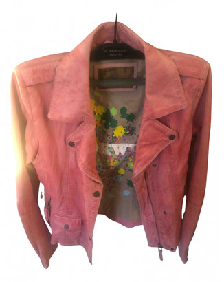 Oakwood Pink Leather Jackets