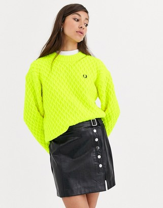 Fred Perry textured jumper-Yellow