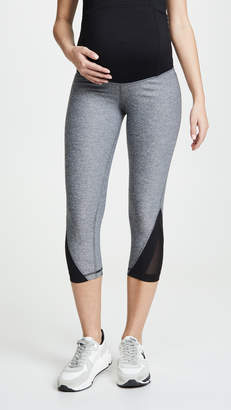Ingrid & Isabel Active Mesh Detail Capri with Crossover Panels