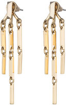 Eddie Borgo Peaked 14K Gold Link Fringe Earrings