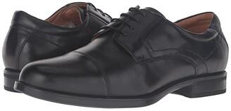 Florsheim Midtown Cap Toe Oxford (Black Smooth) Men's Lace Up Cap Toe Shoes