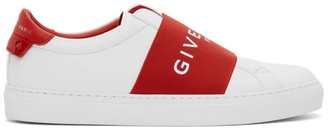 Givenchy White and Red Elastic Urban Knots Sneakers