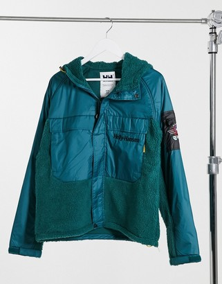 Helly Hansen Heritage unisex pile jacket in teal