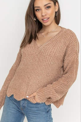 Lush Velvet Scallop Sweater