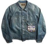 Ralph Lauren RRL Indigo-Dyed Leather Jacket