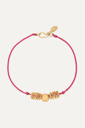 Pippa Small + Net Sustain 18-karat Gold And Cord Bracelet - one size