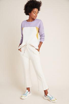 Corine Colorblocked Sweatshirt By Saturday/Sunday in Purple Size XS