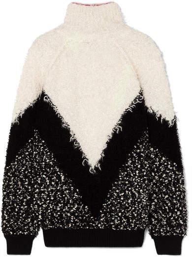 Givenchy Oversized Mohair-blend Bouclé Turtleneck Sweater - Black