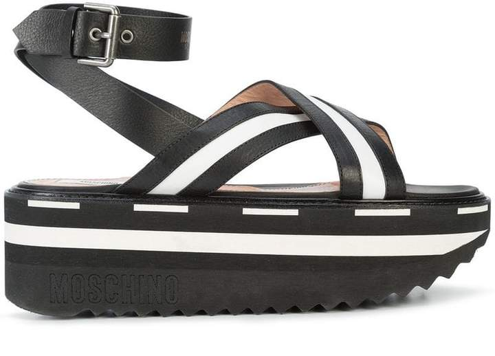 Moschino flatform monochrome sandals