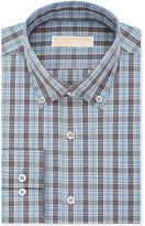 Michael Kors Men's Classic-Fit Non-Iron Gray Check Dress Shirt