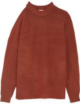 Tibi Cutout Oversized Knitted Sweater - Brick