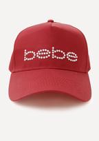 Bebe Logo Rhinestone Baseball Cap